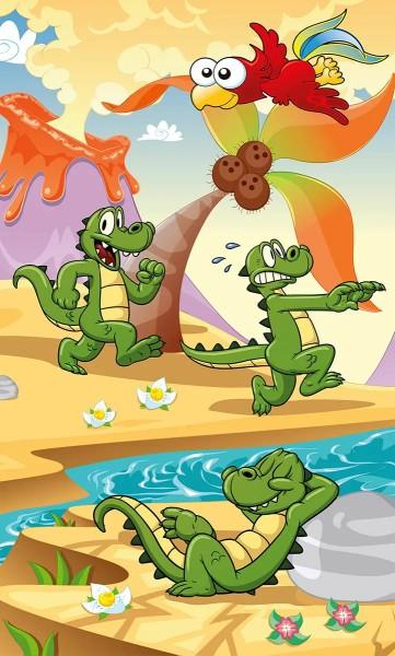 Vlies Fototapete kleines Krokodil 150x250