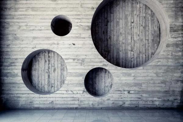 Vliestapete Holz Geometrie 375x250