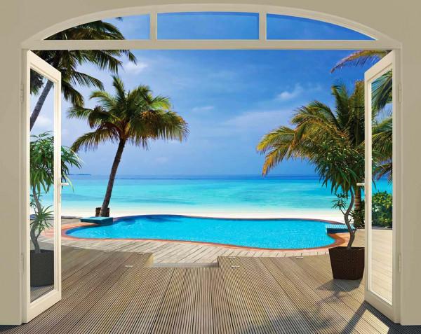 Fototapete Paradise Beach Panorama