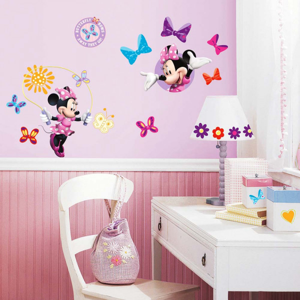 Wandsticker minnie mouse club tapetenwelt - Minnie mouse kinderzimmer ...