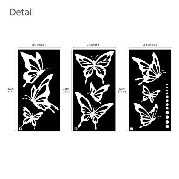 Wandtattoo moderne Schmetterlinge Falter Punkte weiß