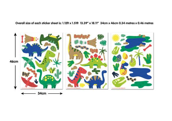 Wandsticker Dinosaurier Park Babyzimmer Maße