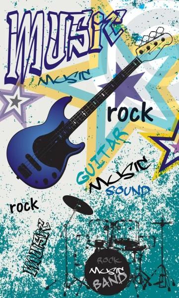 Vlies Fototapete Blue Guitar Rock 150x250