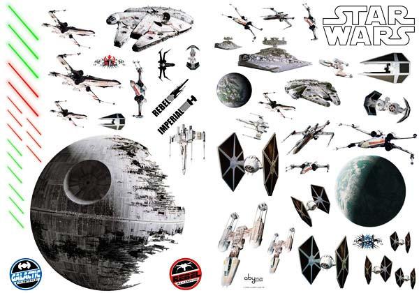Wandsticker Star Wars Todesstern Sternzerstörer