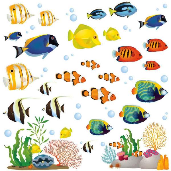 Wandsticker Unterwasser Korallenriff Fische