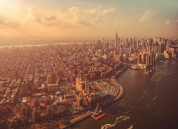 Fototapete Retro Manhattan East River
