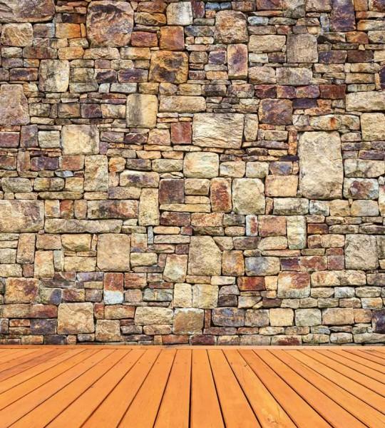Vliestapete Steinmauer 225x250