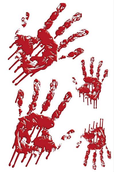 Wandsticker Halloween Blutiger Handabdruck