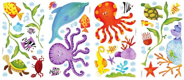 Wandsticker Abenteuer Unterwasserwelt