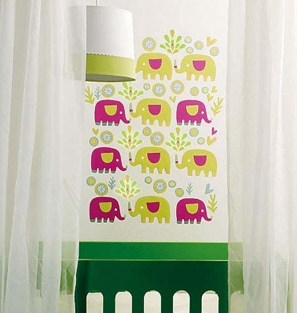 wandsticker babyzimmer elefanten tapetenwelt. Black Bedroom Furniture Sets. Home Design Ideas