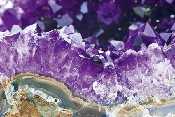 Vliestapete Mineral Amethyst 375x250