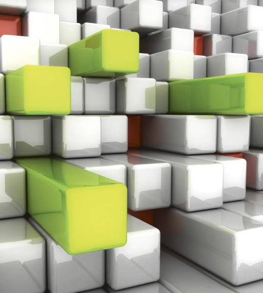 Vliestapete 3D Tetris 225x250