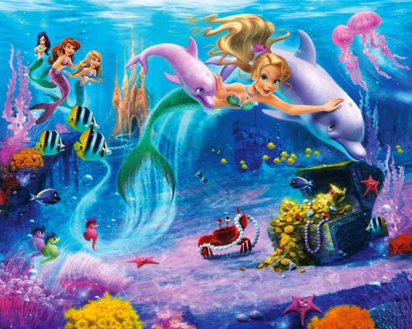 Walltastic Fototapete Meerjungfrau Unterwasser