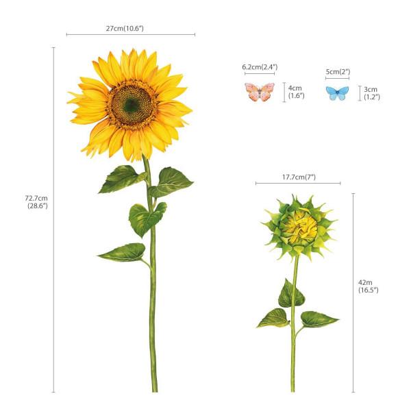 Wandsticker Sonnenblumen Aquarell Maße
