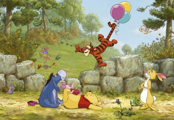 Fototapete Winnie Pooh Ballonspiel