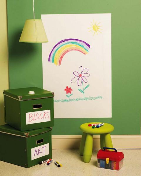 Wandsticker große Memotafel Blatt weiß Kinderzimmer