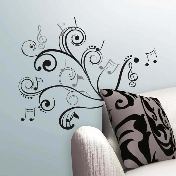 Wandsticker Musik Noten Wohnzimmer