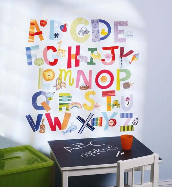 Wandtattoo lustiges Alphabet