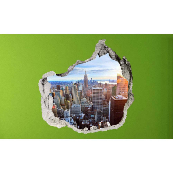 Wandsticker 3D-Optik New York Skyline Breakthrough