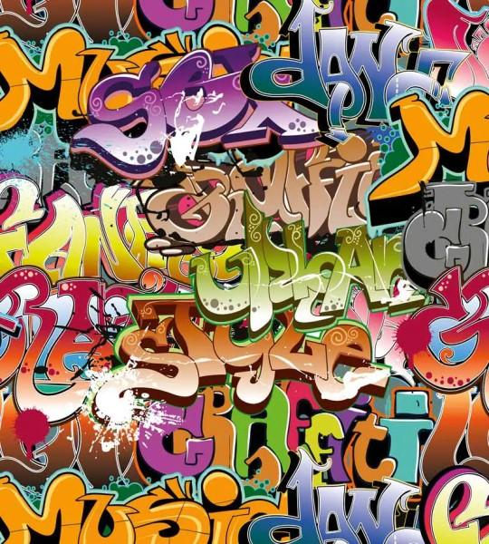 Vliestapete Graffiti 225x250