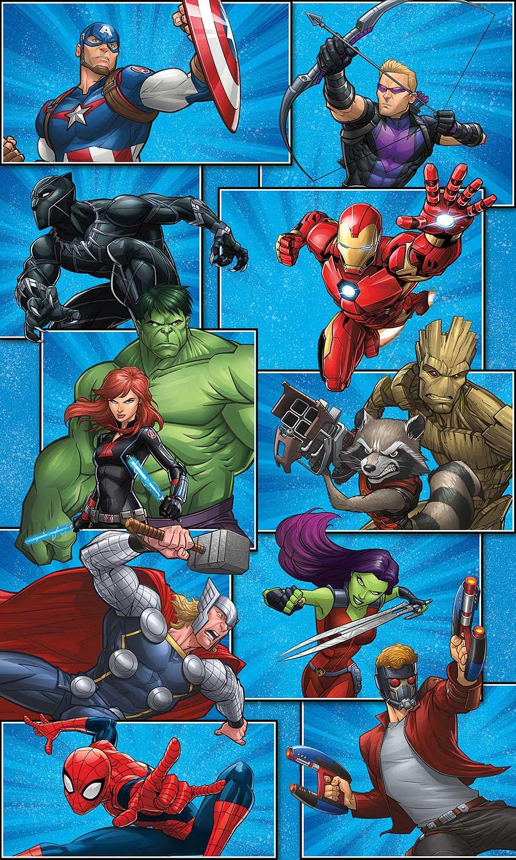 RoomMates Fototapete Marvel Avengers Superhelden   tapetenwelt