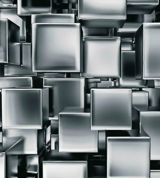 Vliestapete Metall Würfel 225x250