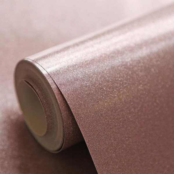Luxus Tapetenrolle Rose Gold Glitter Effekt