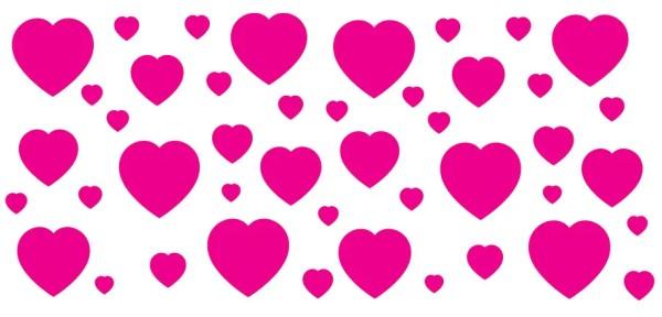Wandsticker Rote Herzen