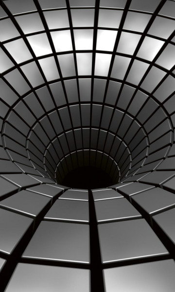 Vlies Fototapete 3D Silber Tunnel 150x250