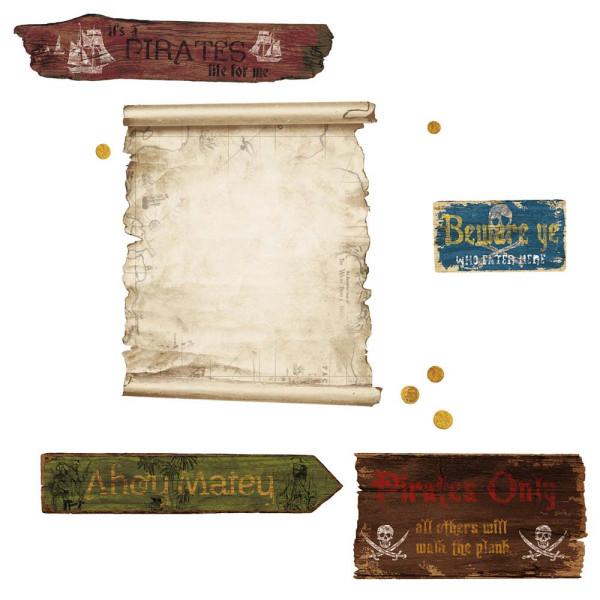 Wandsticker Piraten Schatzkarte