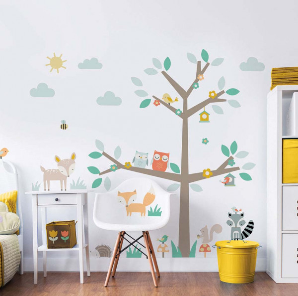 Walltastic Wandsticker Woodland Tree XXL Kinderzimmer