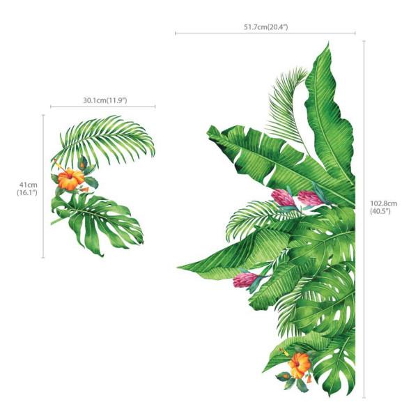 Wandsticker tropische Pflanzen