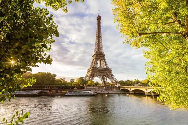 Vliestapete Seine Brücke 375x250