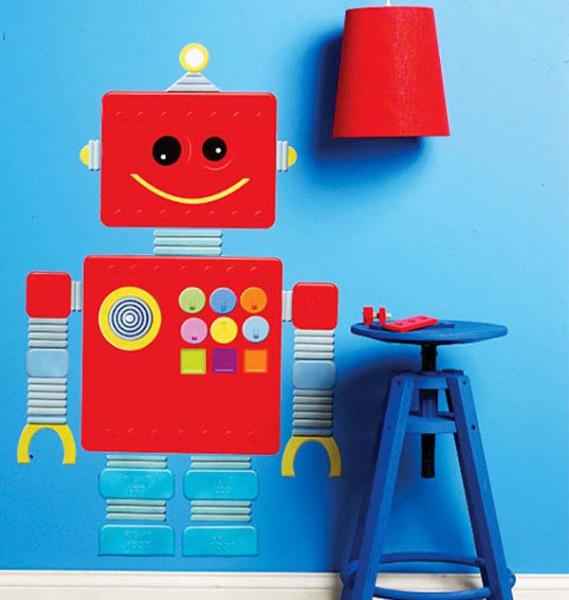 Wandsticker Wallplay Roboter Mechaniker Kinderzimmer