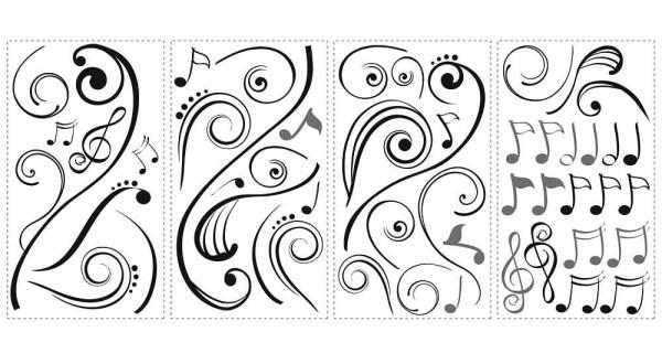 Wandsticker Musik Noten
