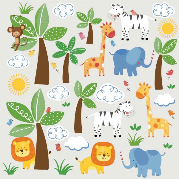 Wandsticker Dschungel Tiere
