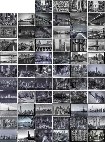 Kreative Collage New York Designer Tapete