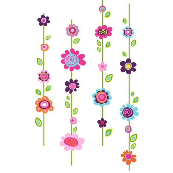 Wandsticker Blumenstreifen Blüten