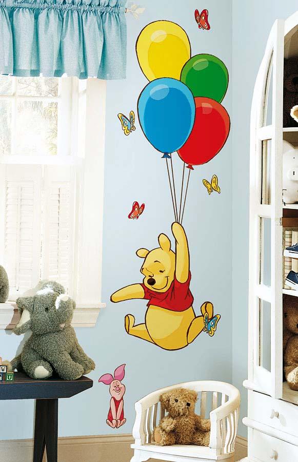 Wandsticker Winnie Pooh Luftballons | tapetenwelt