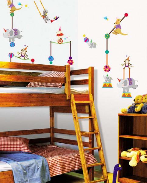 Wandsticker Zirkus Akrobat Jongleur Kinderzimmer