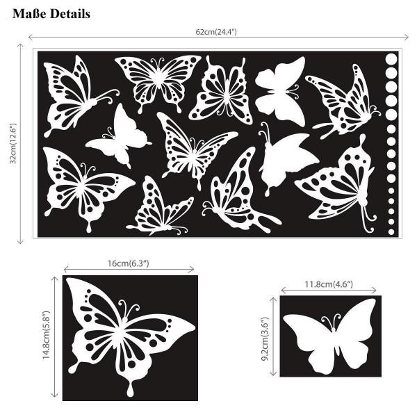 Wandtattoo Schmetterlinge Falter Punkte weiß