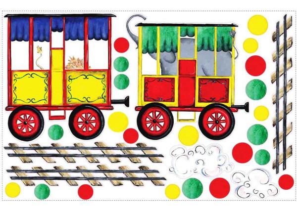 Wandsticker Wandbild Eisenbahn Waggon