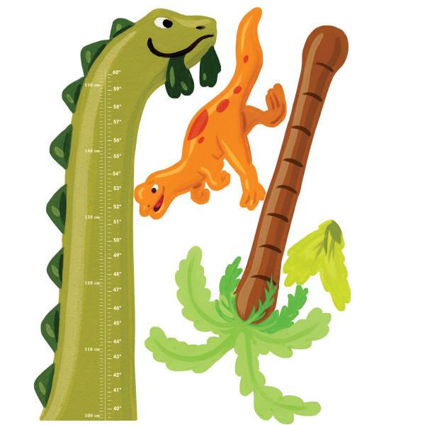 Wandsticker Messlatte Dinosaurier