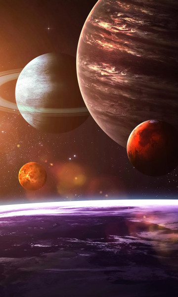 Vlies Fototapete Sonnensystem 150x250