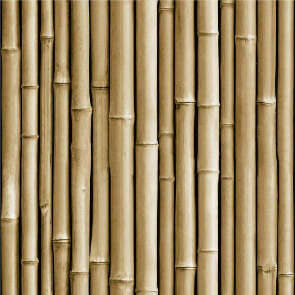 Tapete selbstklebend Bambus gelbbraun