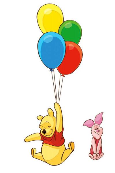 Wandtattoo Winnie Pooh Luftballons