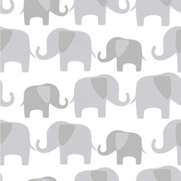 Tapete selbstklebend Elefanten grau