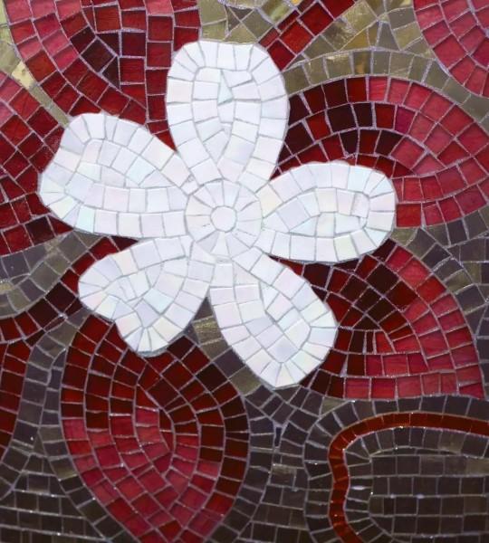 Vliestapete rotes Mosaik 225x250