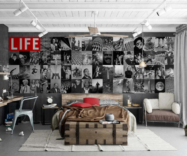 Kreative Collage Life Magazin Designer Tapete Jugendzimmer