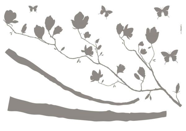 Wandsticker Arabesque Blütenzweig